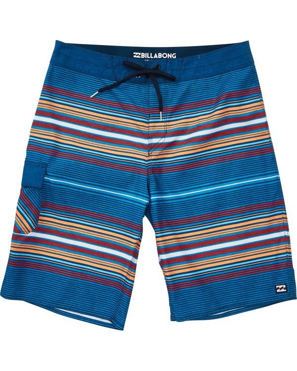 0 Boys' All Day Stripe OG Boardshorts Blue B160TBAD Billabong