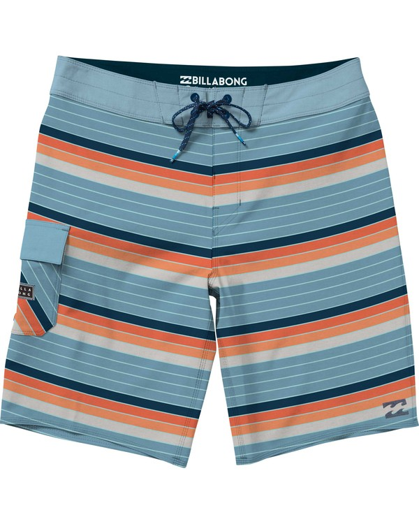 0 Boys' All Day OG Stripe Boardshorts Orange B165NBAS Billabong