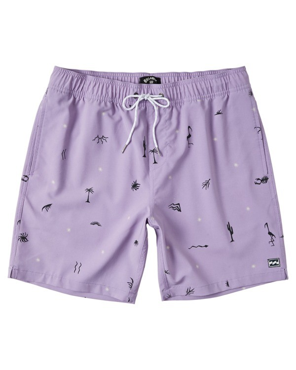 "0 Boys' Sundays Layback Boardshorts 16"" Purple B1803BSB Billabong"