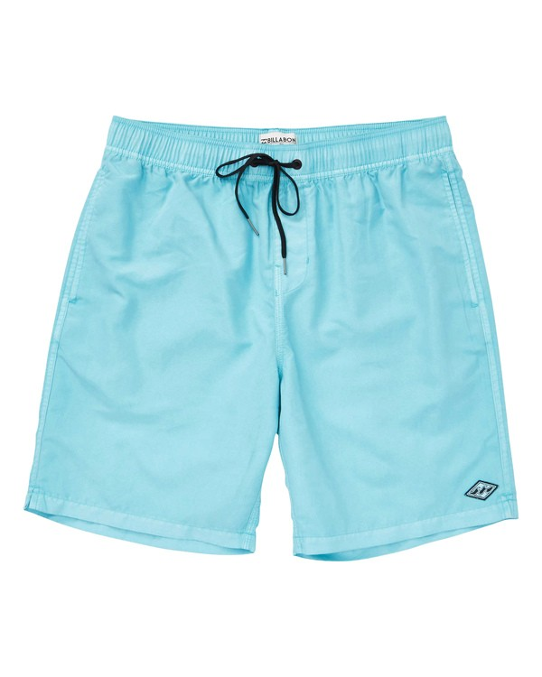 0 Boys' All Day Layback Boardshorts White B182TBAD Billabong
