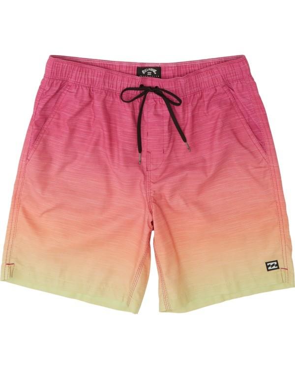 0 Boys' All Day Fade Layback Boardshorts Orange B1841BFB Billabong