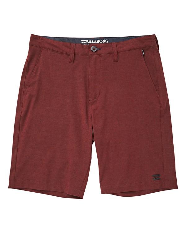 0 Boys' Crossfire X Shorts Red B201TBCX Billabong