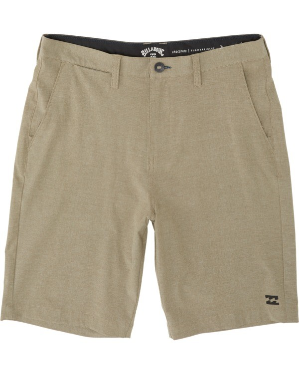 "0 Boys' Crossfire Submersible Short 18"" Beige B2021BCX Billabong"