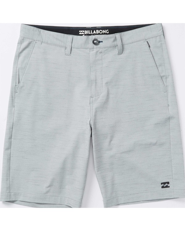 0 Boys' Crossfire X Slub Hybrid Shorts Grey B202TBCS Billabong