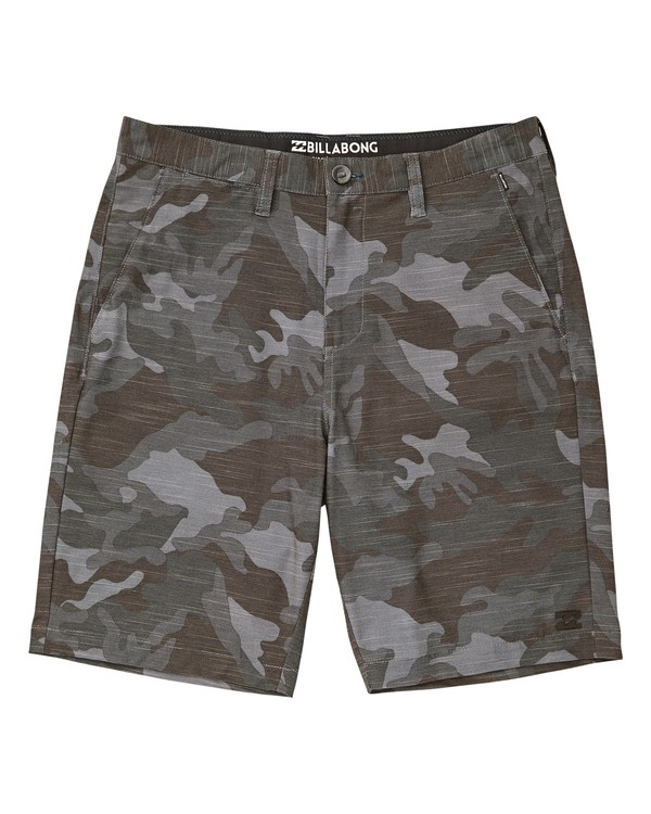 0 Boys' Crossfire X Slub Shorts Grey B202VBCS Billabong