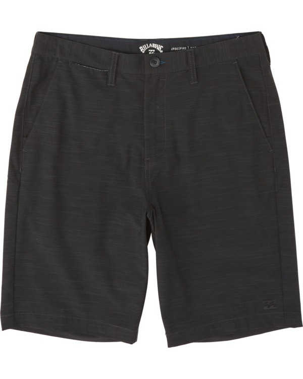 "0 Boys' Crossfire Slub Submersible Walkshort 18"" Black B2031BCS Billabong"