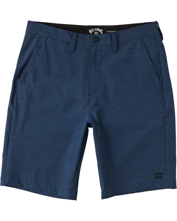 "0 Boys' Crossfire Slub Submersible Walkshort 18"" Blue B2031BCS Billabong"