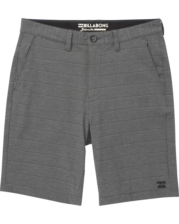 0 Boys' Crossfire X Stripe Shorts  B205NBCS Billabong