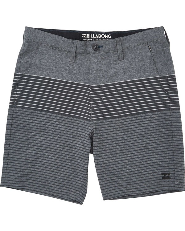 0 Boys' Crossfire X Stripe Shorts White B206TBCS Billabong