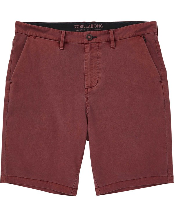 0 Boys' New Order X Overdye Walkshorts Blue B207TBNO Billabong