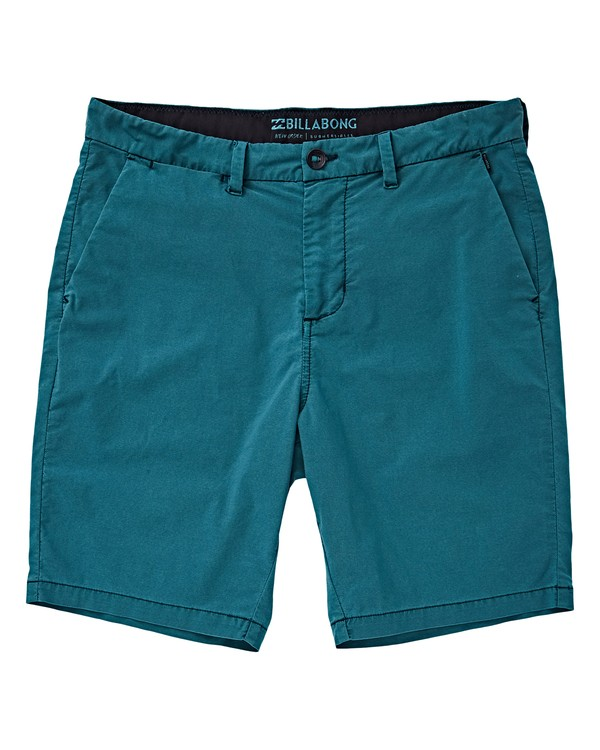 0 Boys' New Order X Ovd Shorts Green B207VBNO Billabong