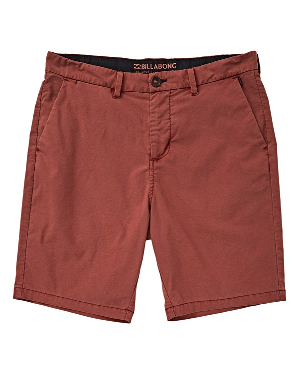 0 Boys' New Order X Ovd Shorts Red B207VBNO Billabong