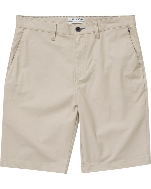 0 Boys' Carter Stretch Shorts Beige B231NBCS Billabong