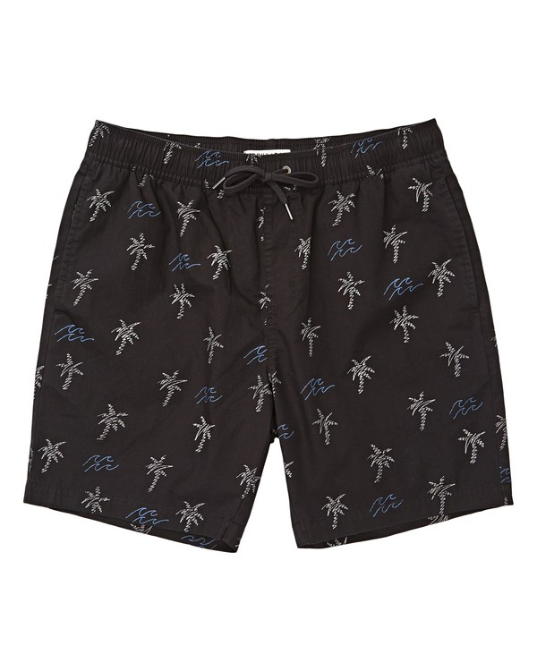 0 Boys' Larry Layback Sunday Boardshorts Black B231TBLS Billabong