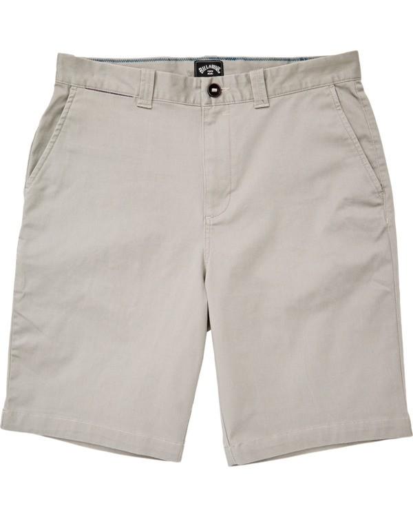 0 Boys' Carter Stretch Walkshort Grey B2361BCS Billabong