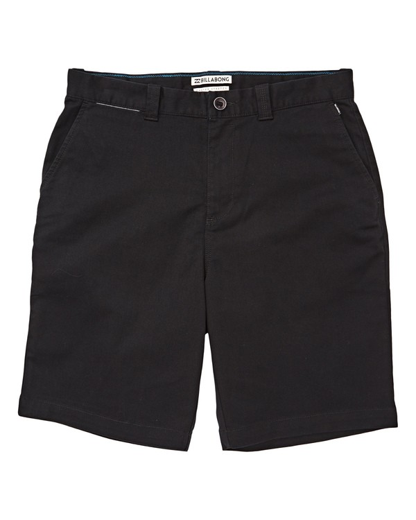 0 Boys' Carter Stretch Shorts Black B236TBCS Billabong
