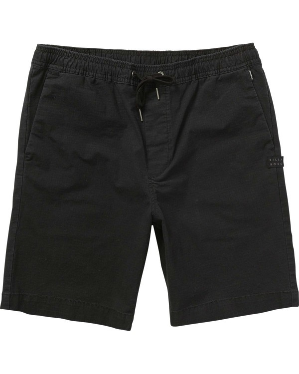 0 Boys' Larry Layback Walkshorts Black B239TBLL Billabong