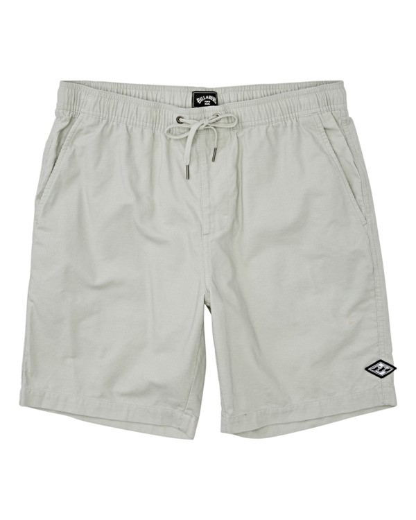 0 Larry Layback Corduroy Shorts Grey B2401BLC Billabong