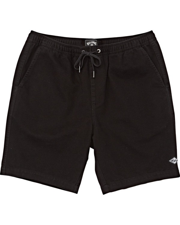 0 Boys' Larry Layback Twill Walkshort Black B2431BLT Billabong