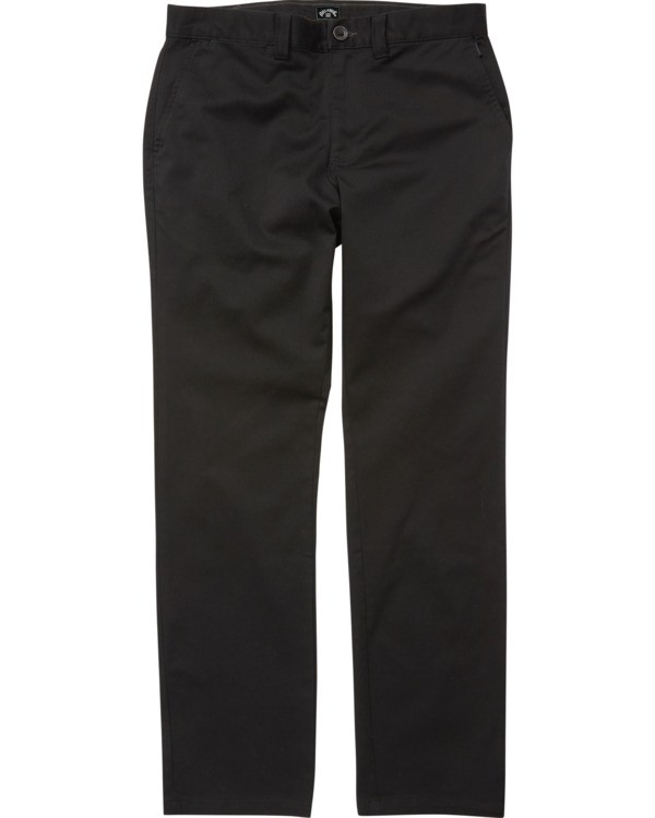 0 Boys' Carter Stretch Chino Pant Black B3143BCS Billabong