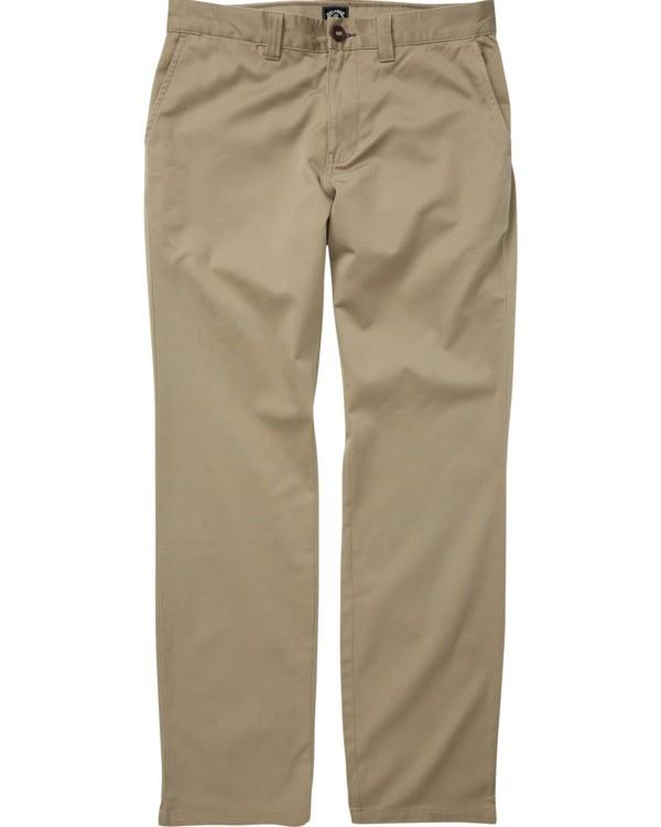 0 Boys' Carter Stretch Chino Pant Grey B3143BCS Billabong