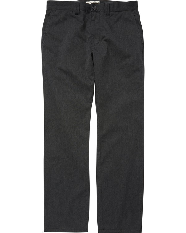 0 Boys' Carter Stretch Chino Pants Grey B314QBCS Billabong