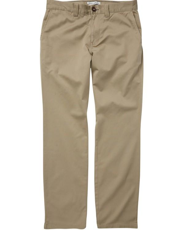 0 Boys' Carter Stretch Chino Pants Beige B314QBCS Billabong
