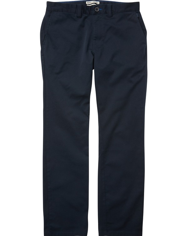0 Boys' Carter Stretch Chino Pants Blue B314QBCS Billabong