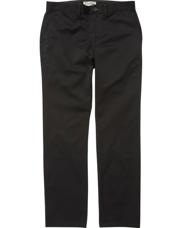 0 Boys' Carter Stretch Chino Pants Black B314VBCS Billabong