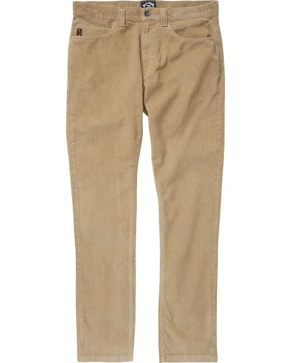 0 Boys' Outsider Cord Pants Beige B316QBOU Billabong