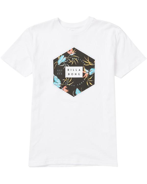 0 Boys' Access Fill Tee Shirt White B401SBAF Billabong