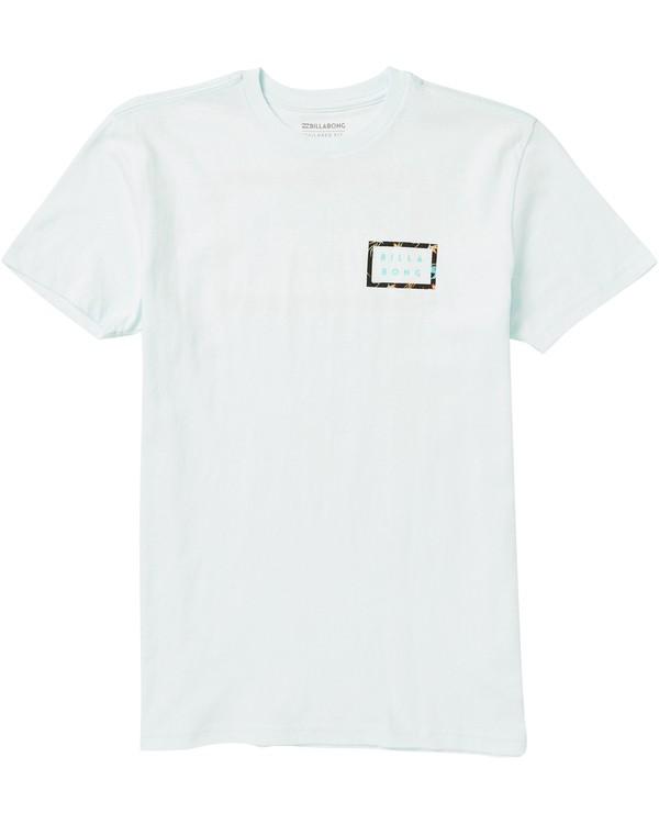 0 Boys' Die Cut Border Tee Shirt Blue B401SBDB Billabong
