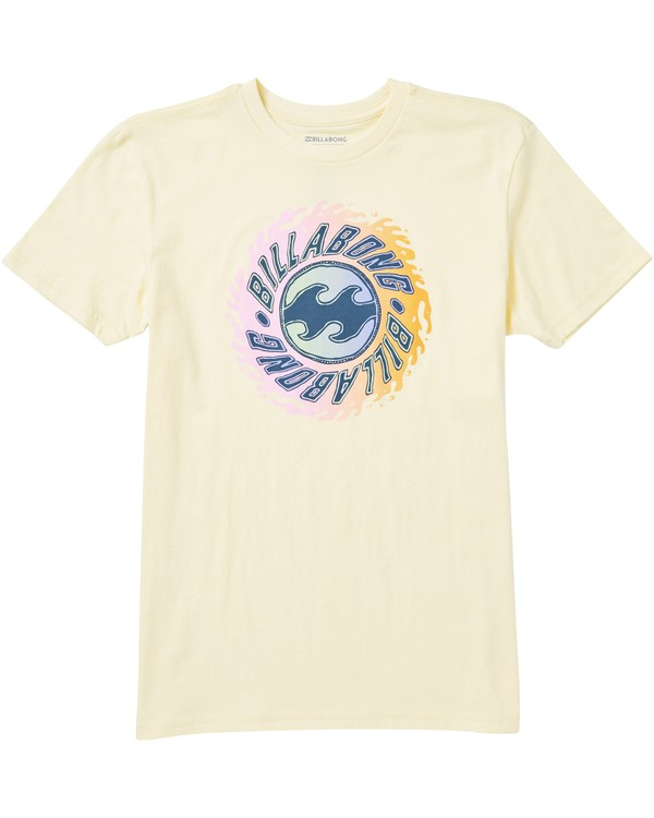 0 Boys' Ooze Tee Shirt Yellow B401SBOO Billabong
