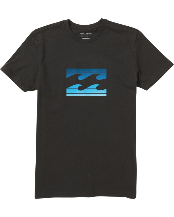 0 Boys' Team Wave Tee Shirt Black B401SBTE Billabong