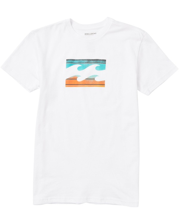 0 Boys' Team Wave Tee Shirt White B401SBTE Billabong