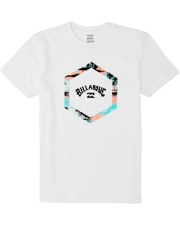 0 Boys' Access Short Sleeve T-Shirt White B4041BAC Billabong