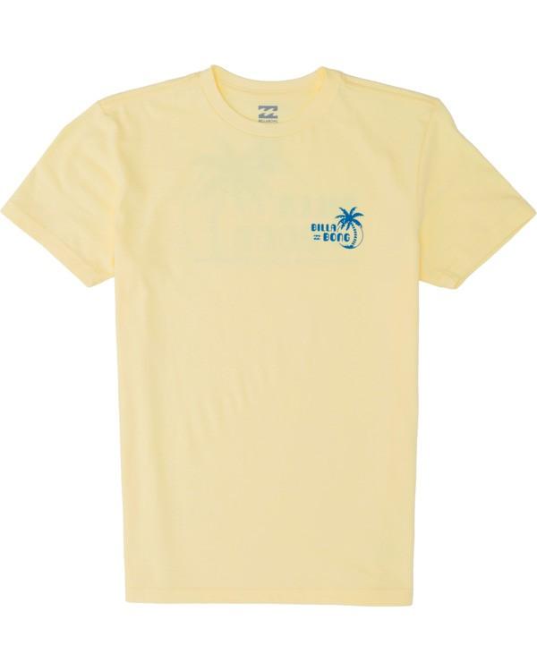 0 Boys' Social Club Short Sleeve T-Shirt Yellow B4041BSO Billabong