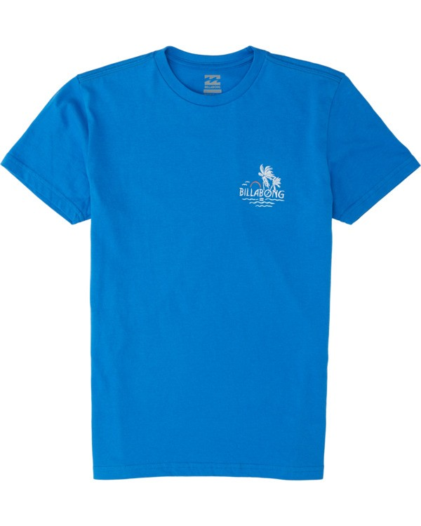 0 Boys' Social Club Short Sleeve T-Shirt Blue B4041BSO Billabong