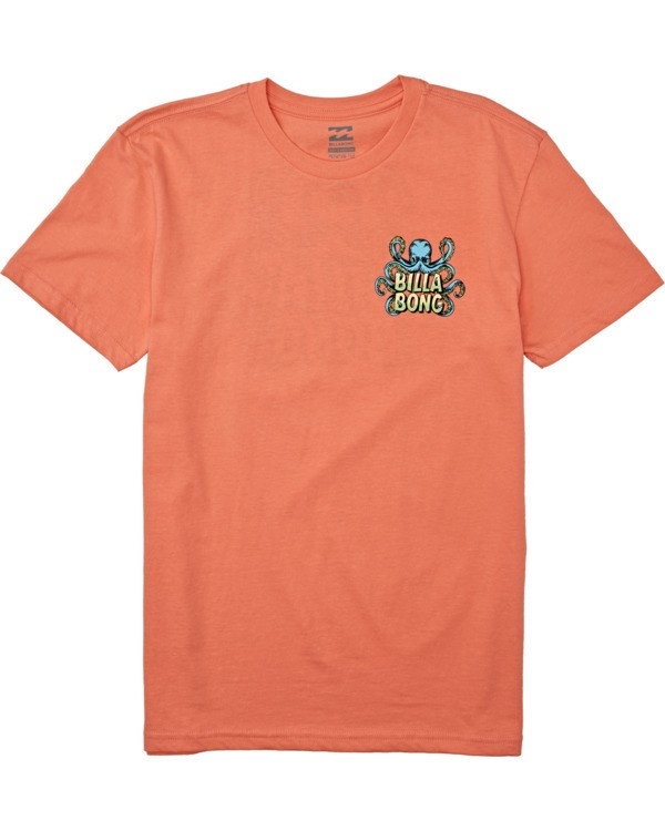 0 Boys' Love Craft Short Sleeve T-Shirt Orange B4042BLC Billabong