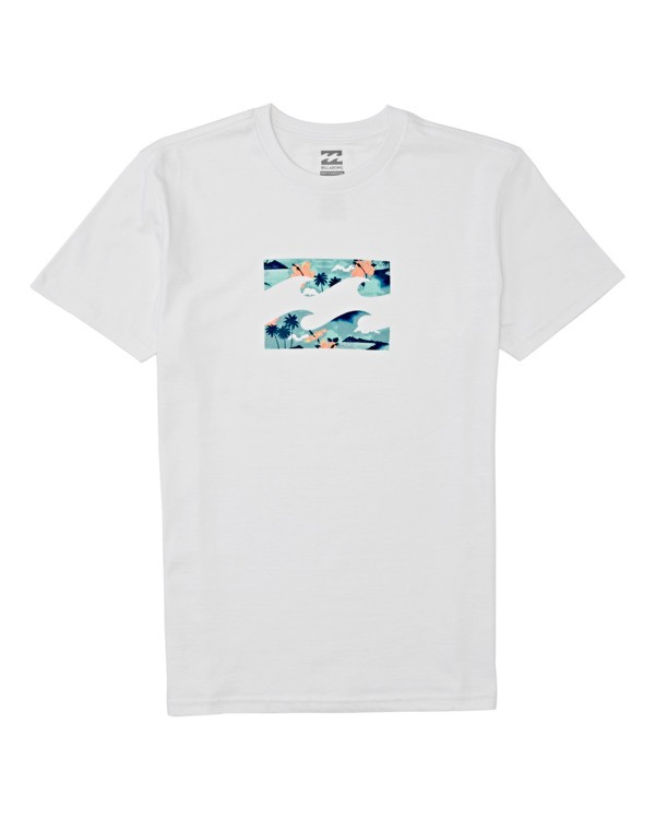 0 Boys' Team Wave Short Sleeve T-Shirt White B4042BTW Billabong