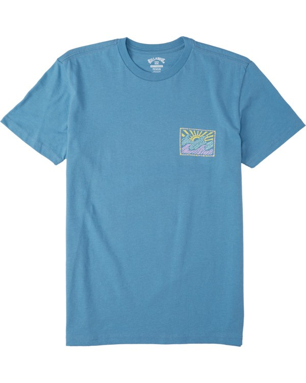 0 Boys' Crayon Wave T-Shirt Grey B4043BCW Billabong