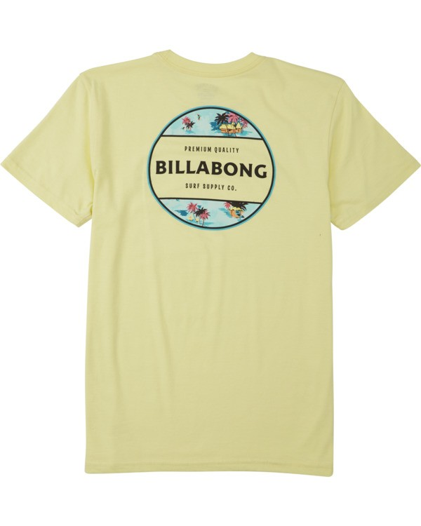 0 Boys' Rotor T-Shirt Yellow B4043BRO Billabong