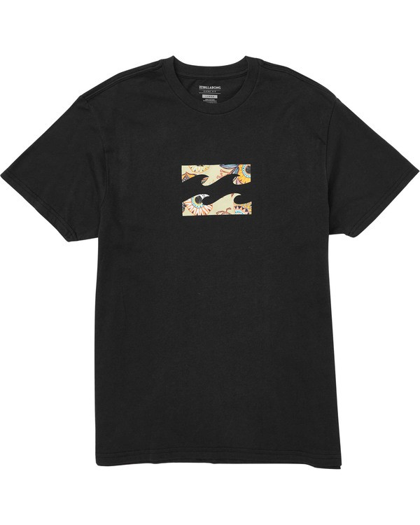 0 Boys' Team Wave Tee Black B404TBTE Billabong