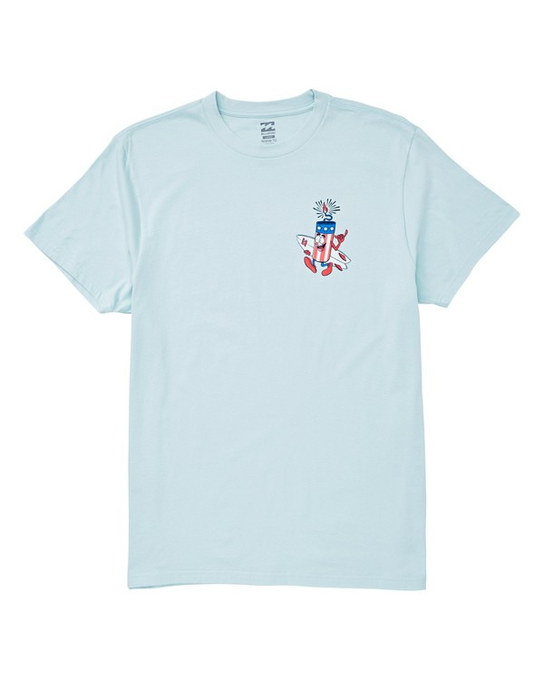 0 Boys' Firecracker Tee Blue B404UBFC Billabong