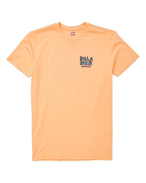 0 Boys' Fishtail T-Shirt Orange B404UBFT Billabong
