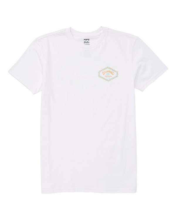 0 Boys' Hex T-Shirt White B404UBHE Billabong