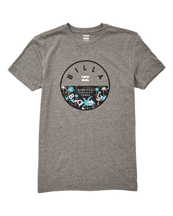 0 Boys' Boys' Rotor T-Shirt Grey B404UBRO Billabong