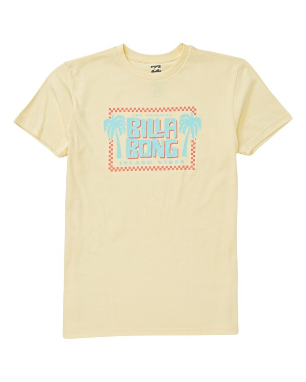 0 Boys' Calypso T-Shirt Yellow B404VBCA Billabong