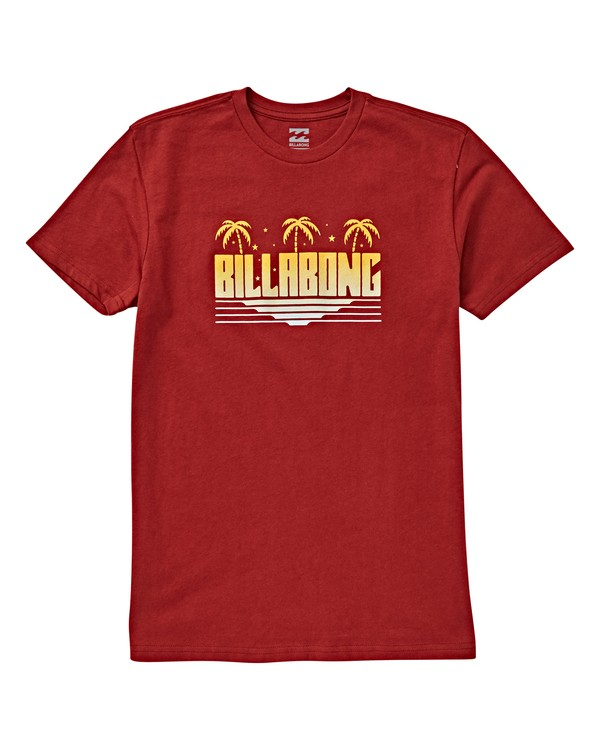 0 Boys' Swami T-Shirt Red B404VBSW Billabong