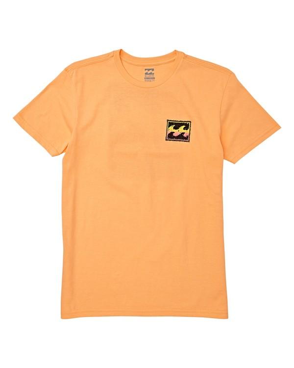 0 Boys' Fifty Wave Short Sleeve T-Shirt Orange B404WBFW Billabong